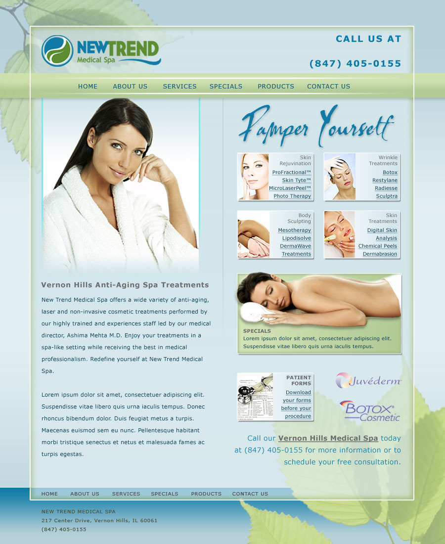 New Trend Spa Website