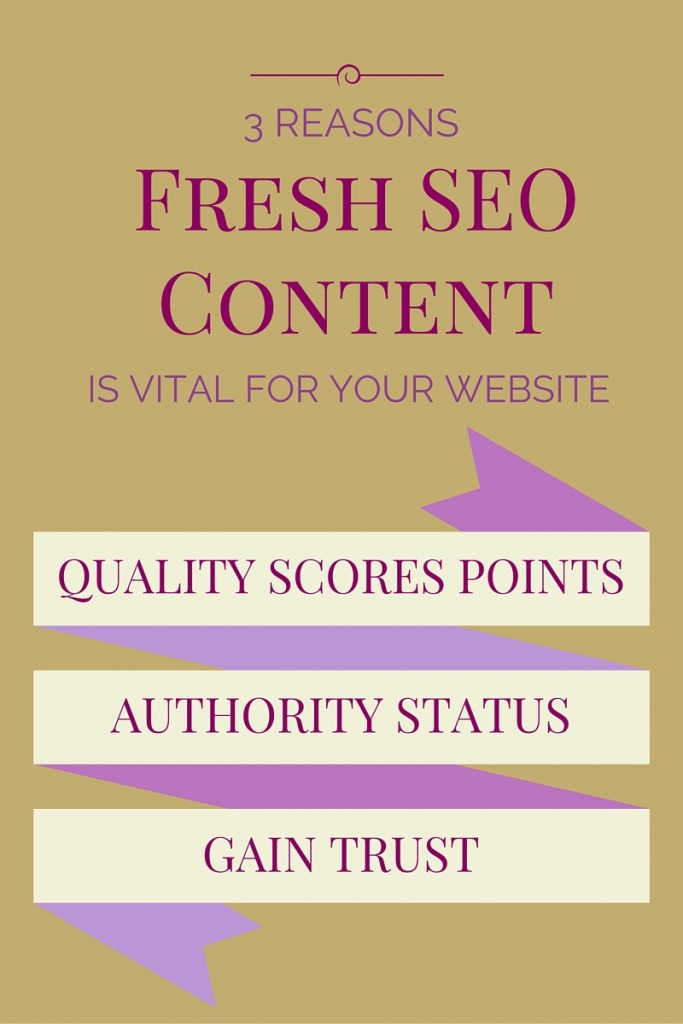3 Reasons Why Fresh SEO Content is Vital For Your Website