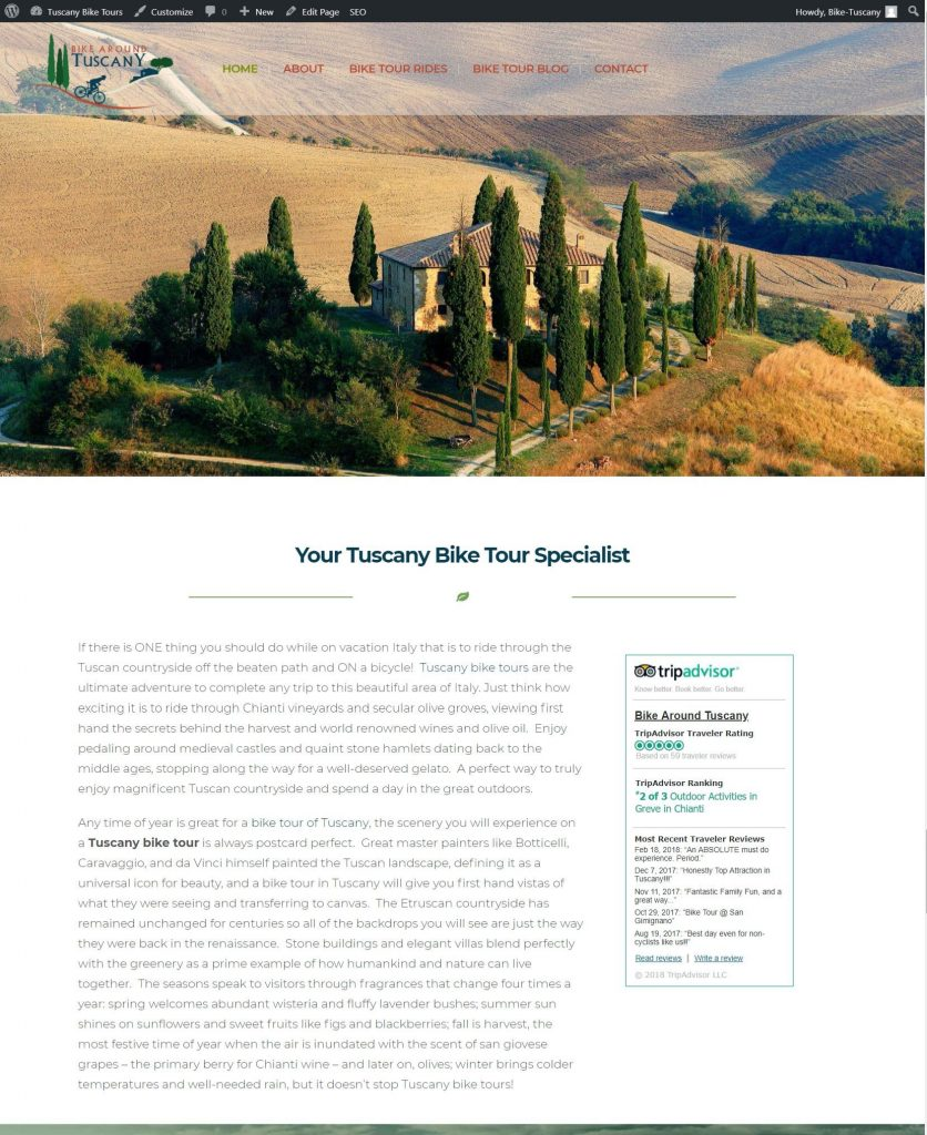 bike tours in tuscany
